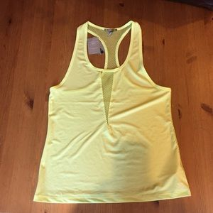 Forever 21 bright yellow workout top
